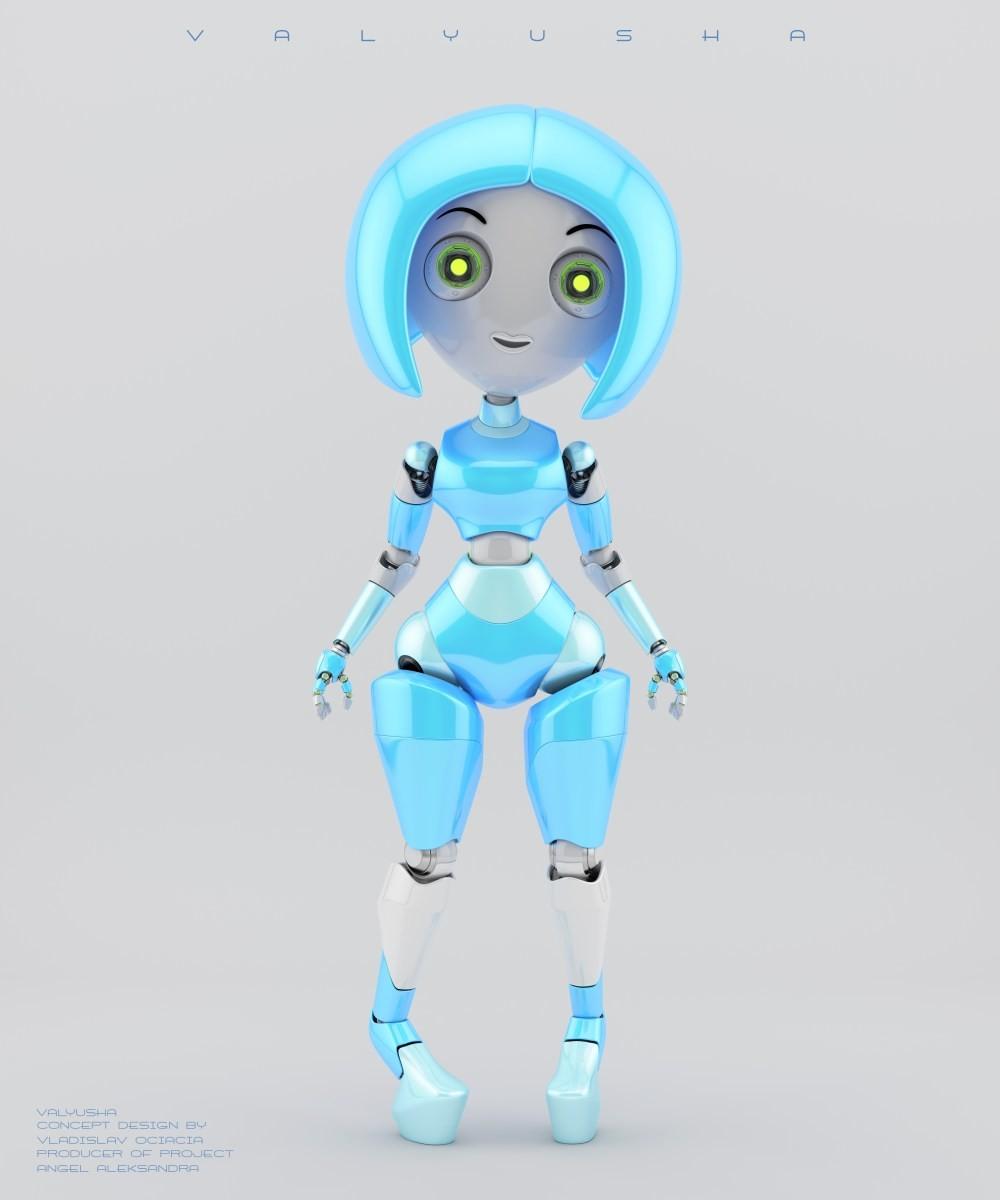 Vladislav ociacia trendy robotic girl valyusha 12