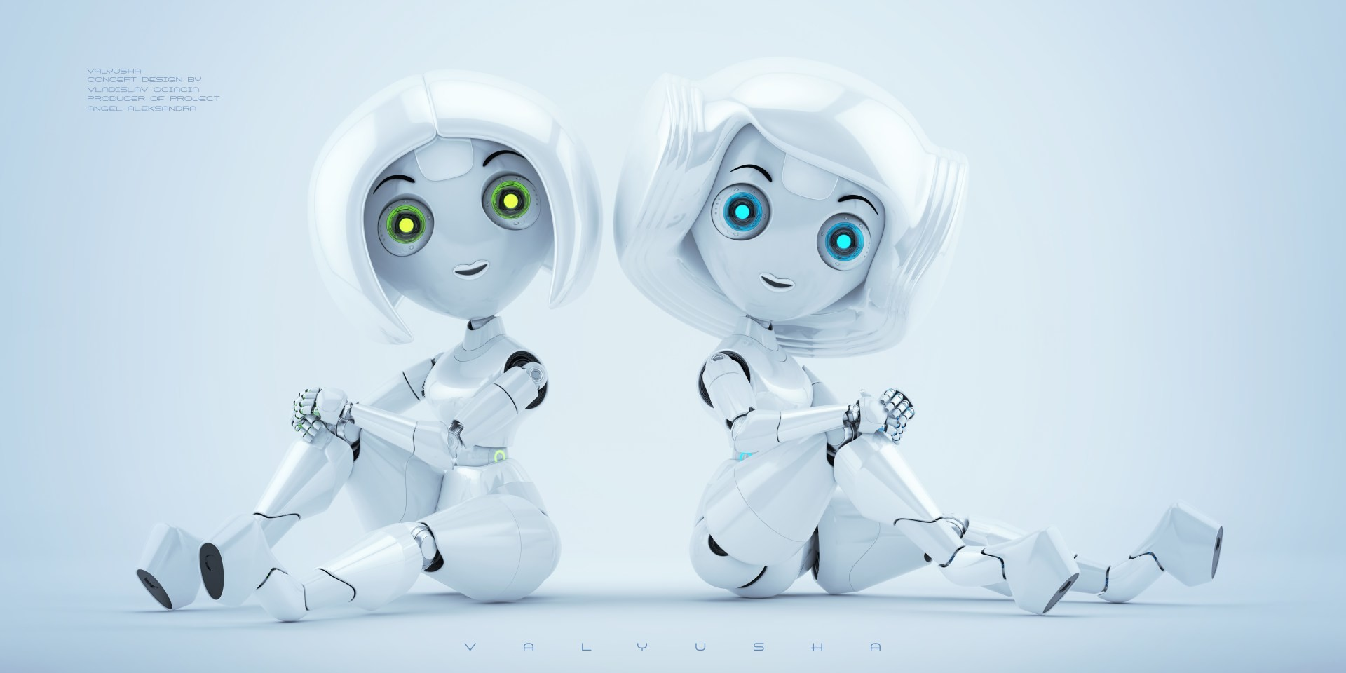 Vladislav ociacia trendy robotic girl valyusha 9