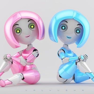 Vladislav ociacia trendy robotic girl valyusha 10