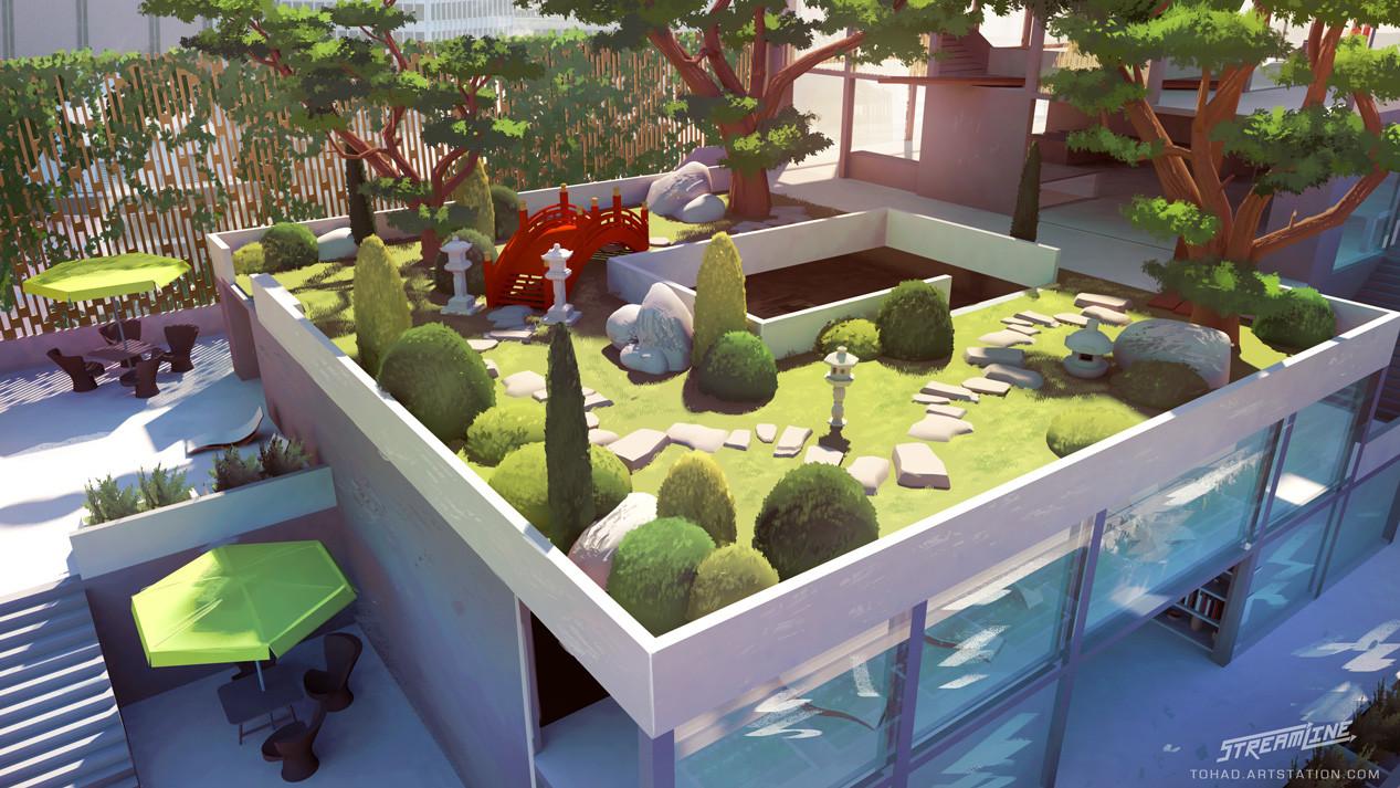 Streamline concept-art : high rise garden