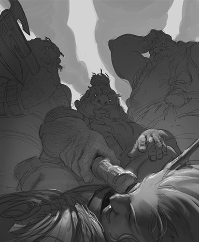 Cesar rosolino dwarves and the lost elf crosolino 0002 grayscale thumbnail