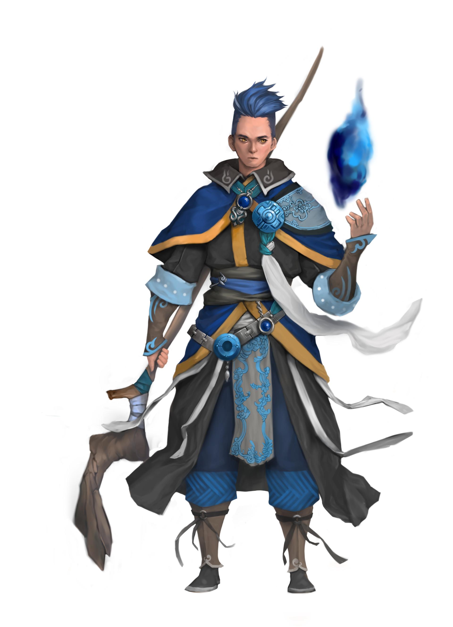 juntae min blue wizard