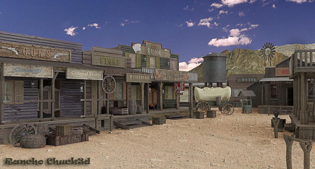 Viejo Oeste-Rancho 3D