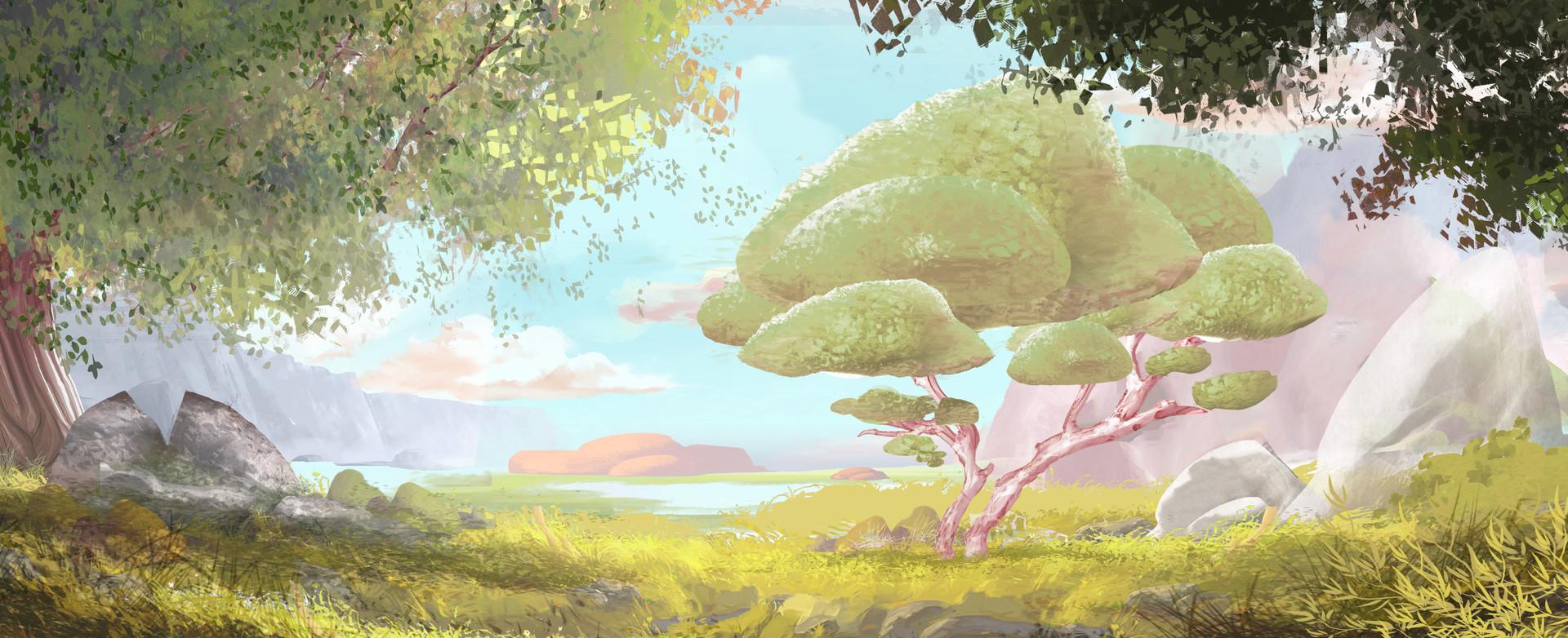Paysage Concept artstation - paysage concept art étude, renaud lachery