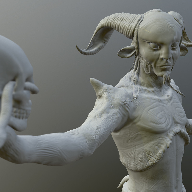 Pans Labyrinthine CG Model and 3D Print