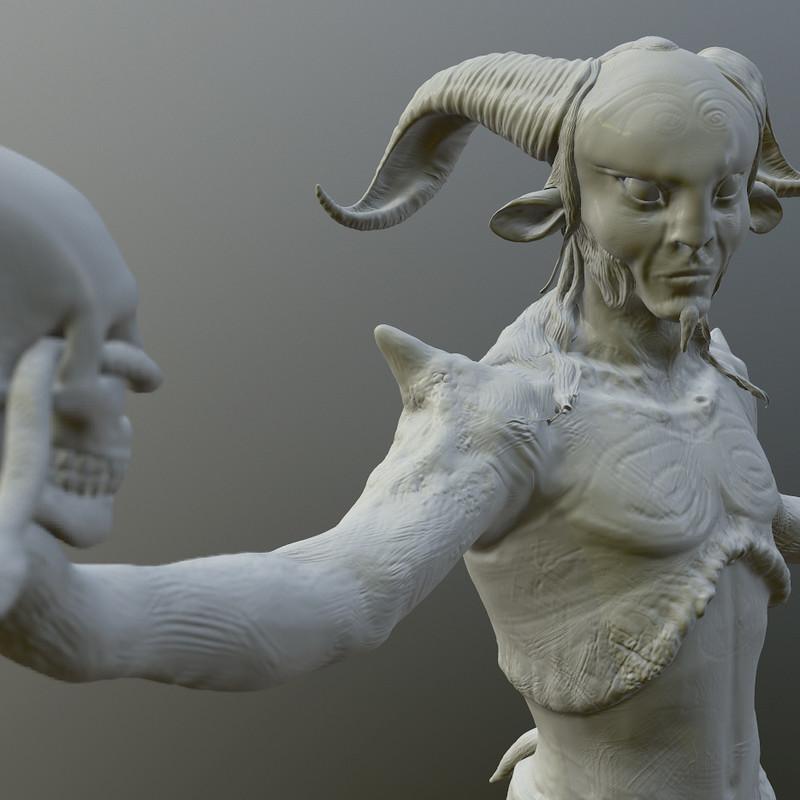 Pans Labyrinthine CG Model and 3D Print