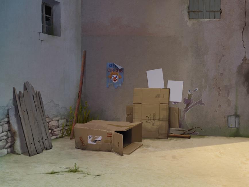 Cul de sac - décor / Dead end - background