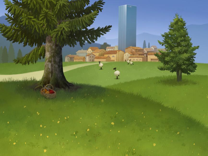 La prairie - décor / The meadow - background