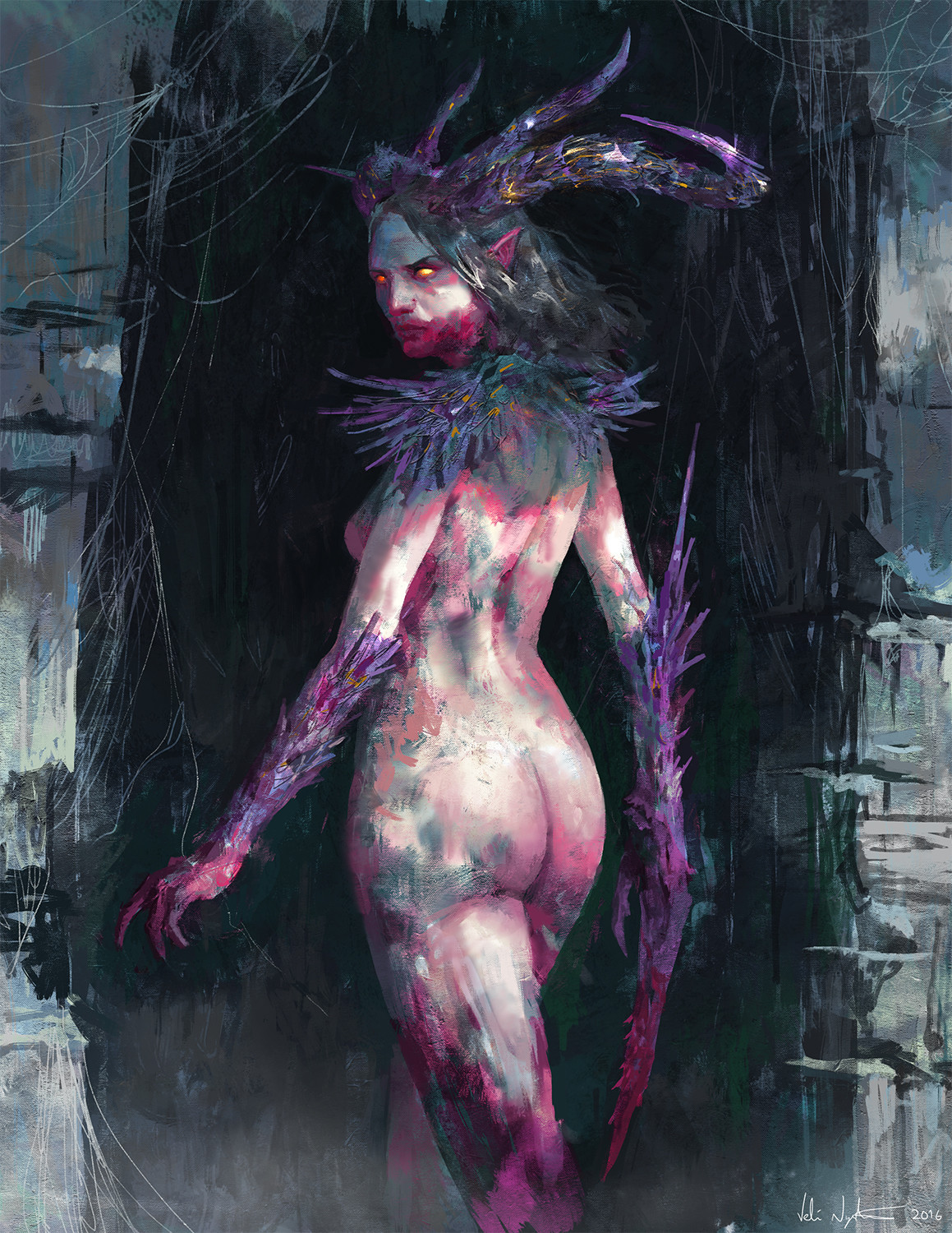 Veli nystrom purple demon woman