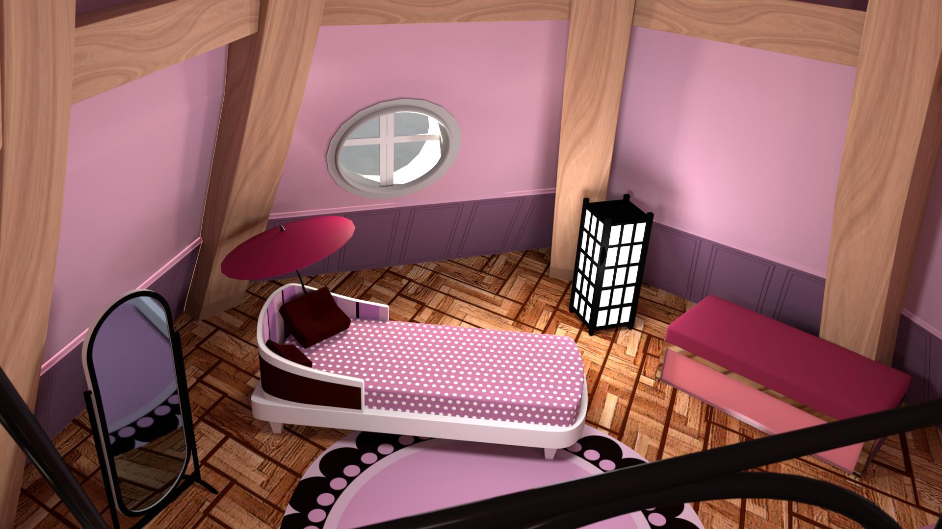 . ArtStation   Miraculous Ladybug   Marinette s Room  James Owen