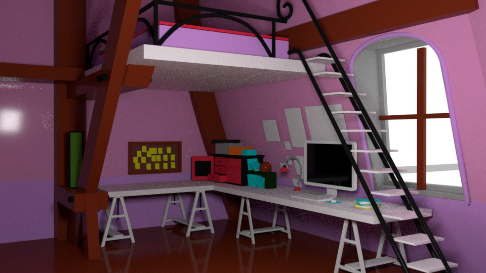 Block out 2 0 with full room. ArtStation   Miraculous Ladybug   Marinette s Room  James Owen