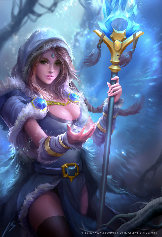 artstation dota 2 fanart crystal maiden derrick song