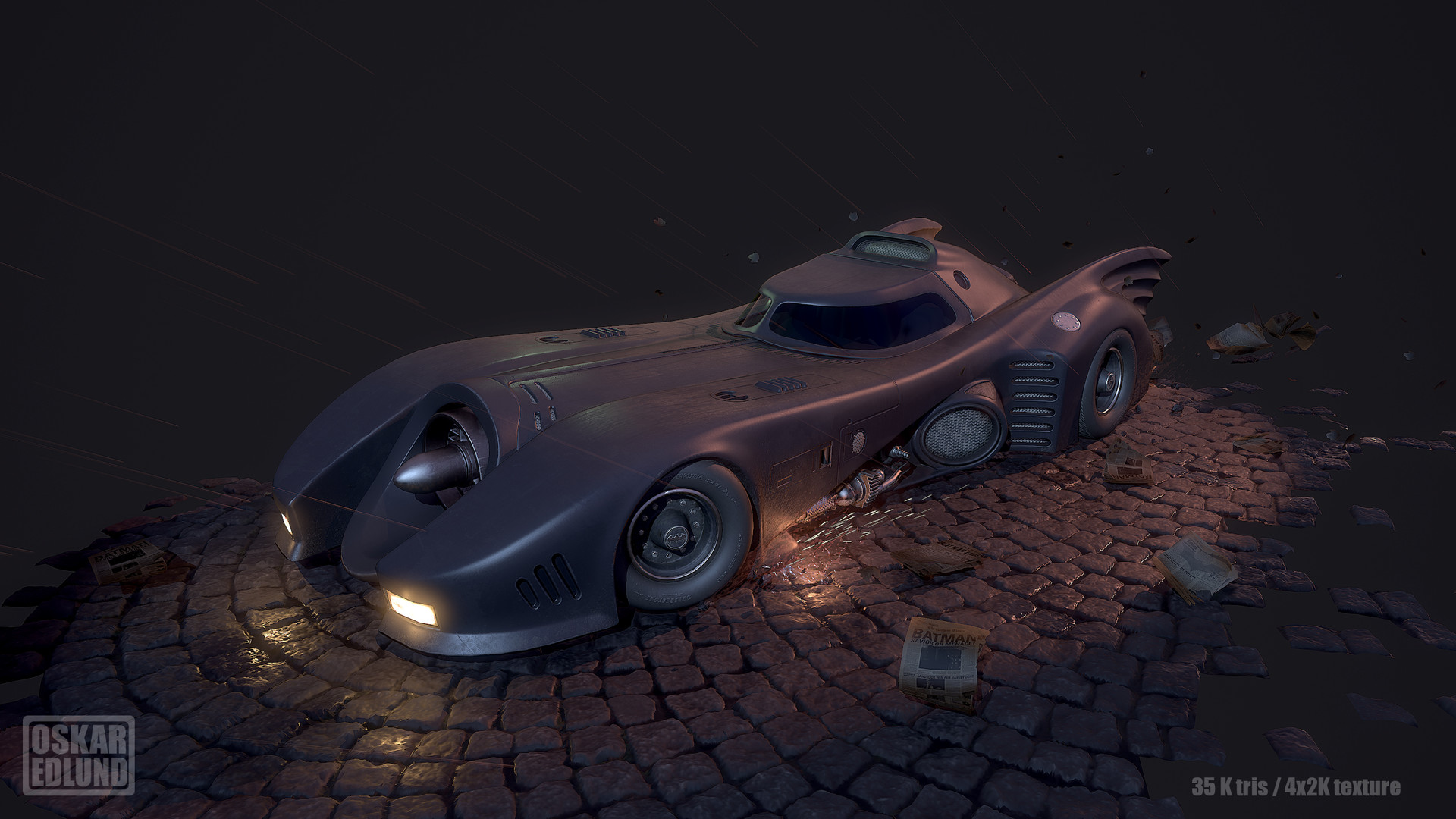 Oskar edlund batmobile 01