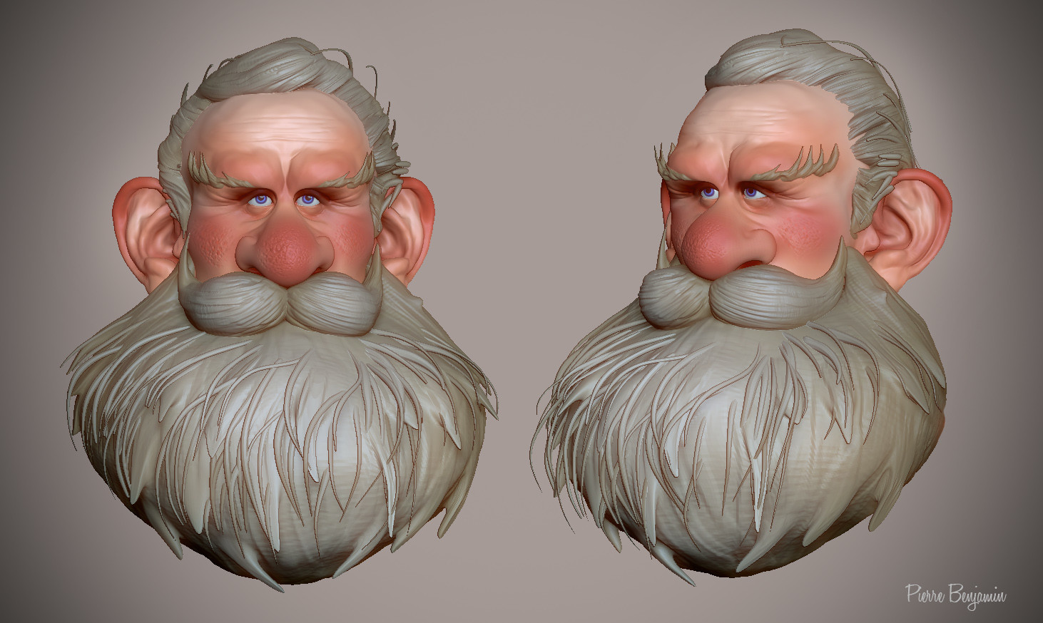 3D sculpt inspired by a 2D drawing by Alberto Camara