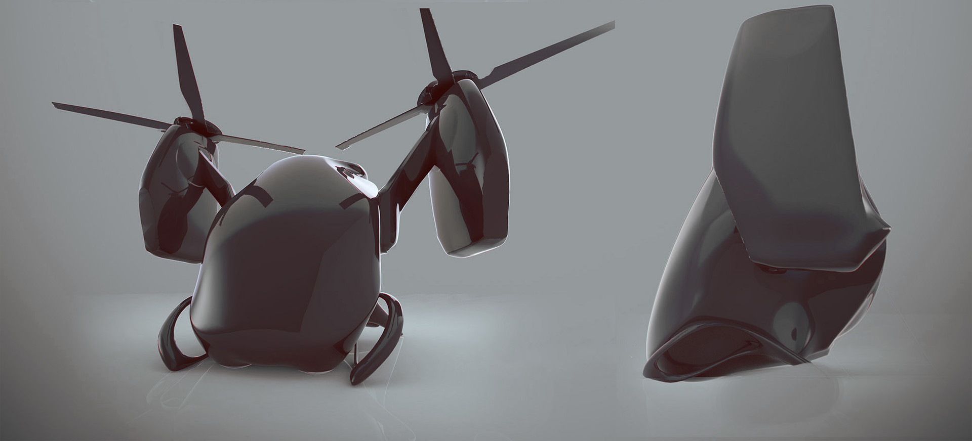 Yuriy romanyk promdisign helicopter scifi 3