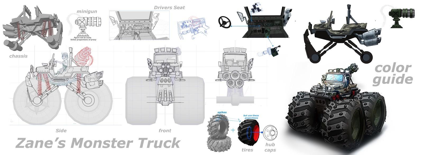 Jose cua monster truck breakdown