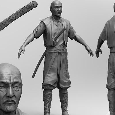 Max golosiy samurai renders