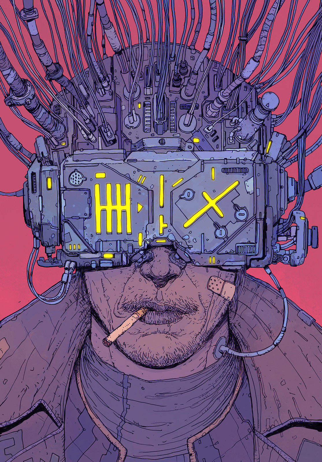 Book cover for the Brazilian edition of Neuromancer, published by Aleph Editora