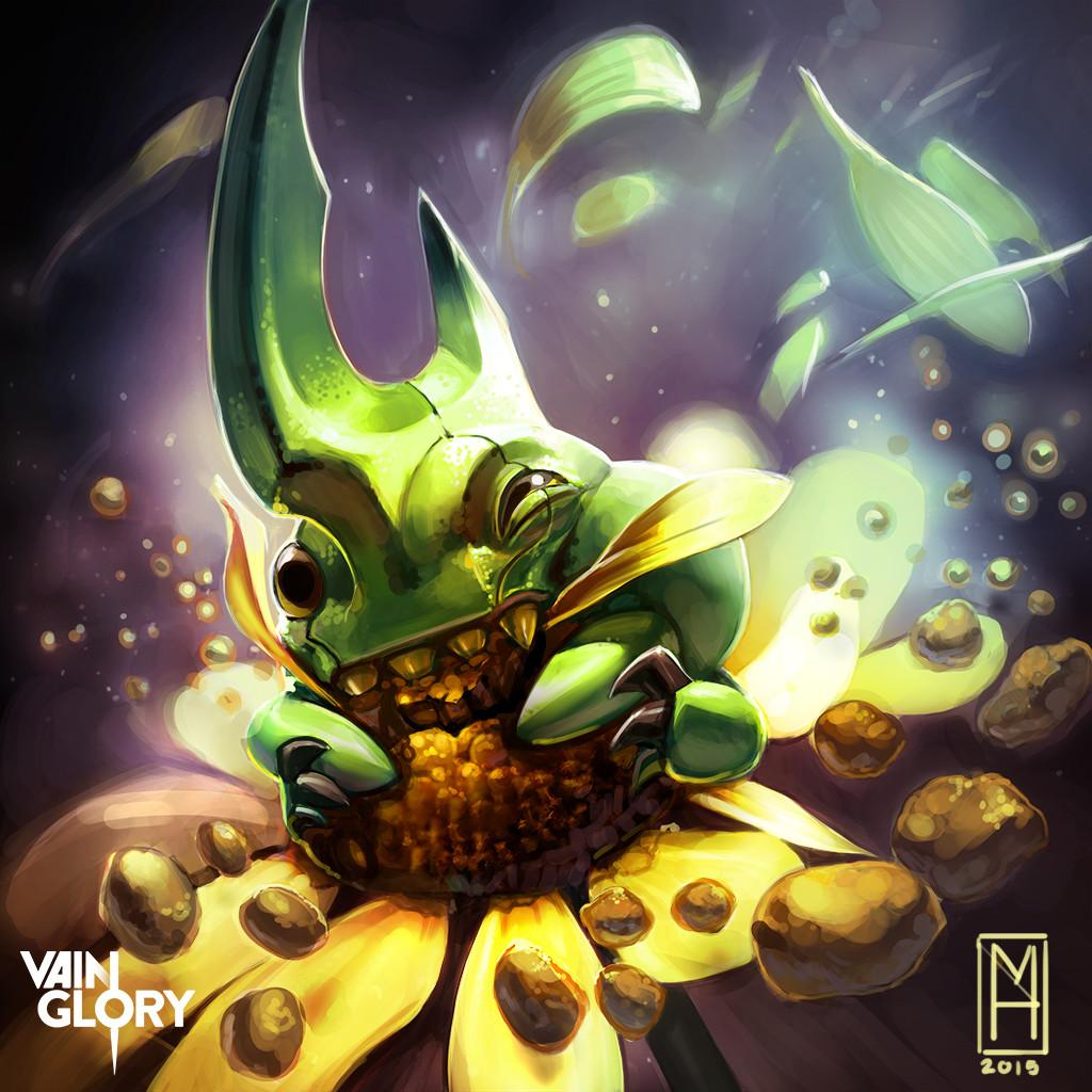 ArtStation - Bug Petal Tier I and Tier II cards, Michelle Hardy