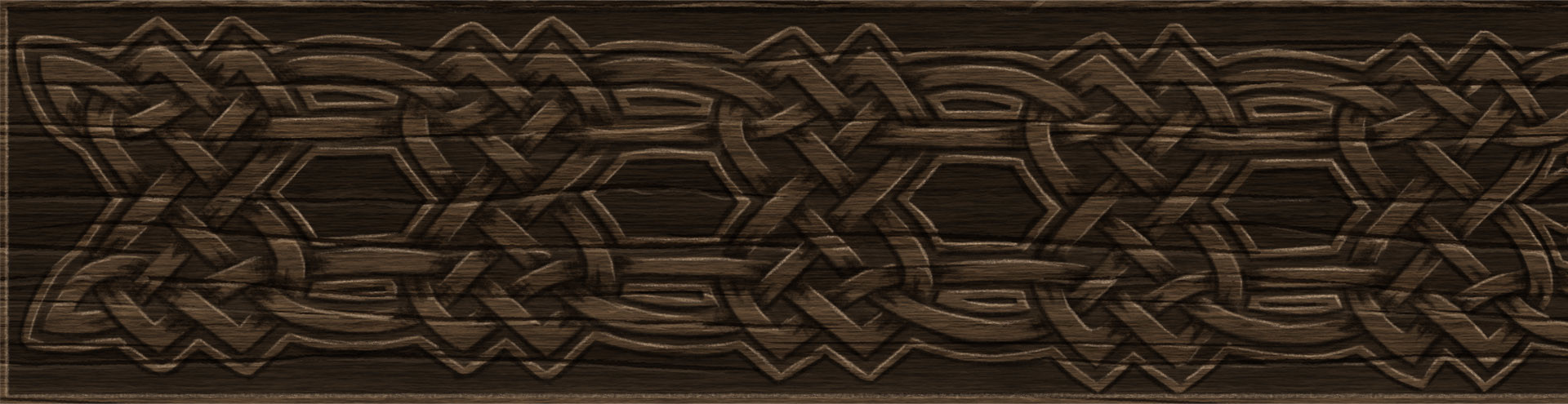 Tara solbrig celtic knot carved wood hand painted texture