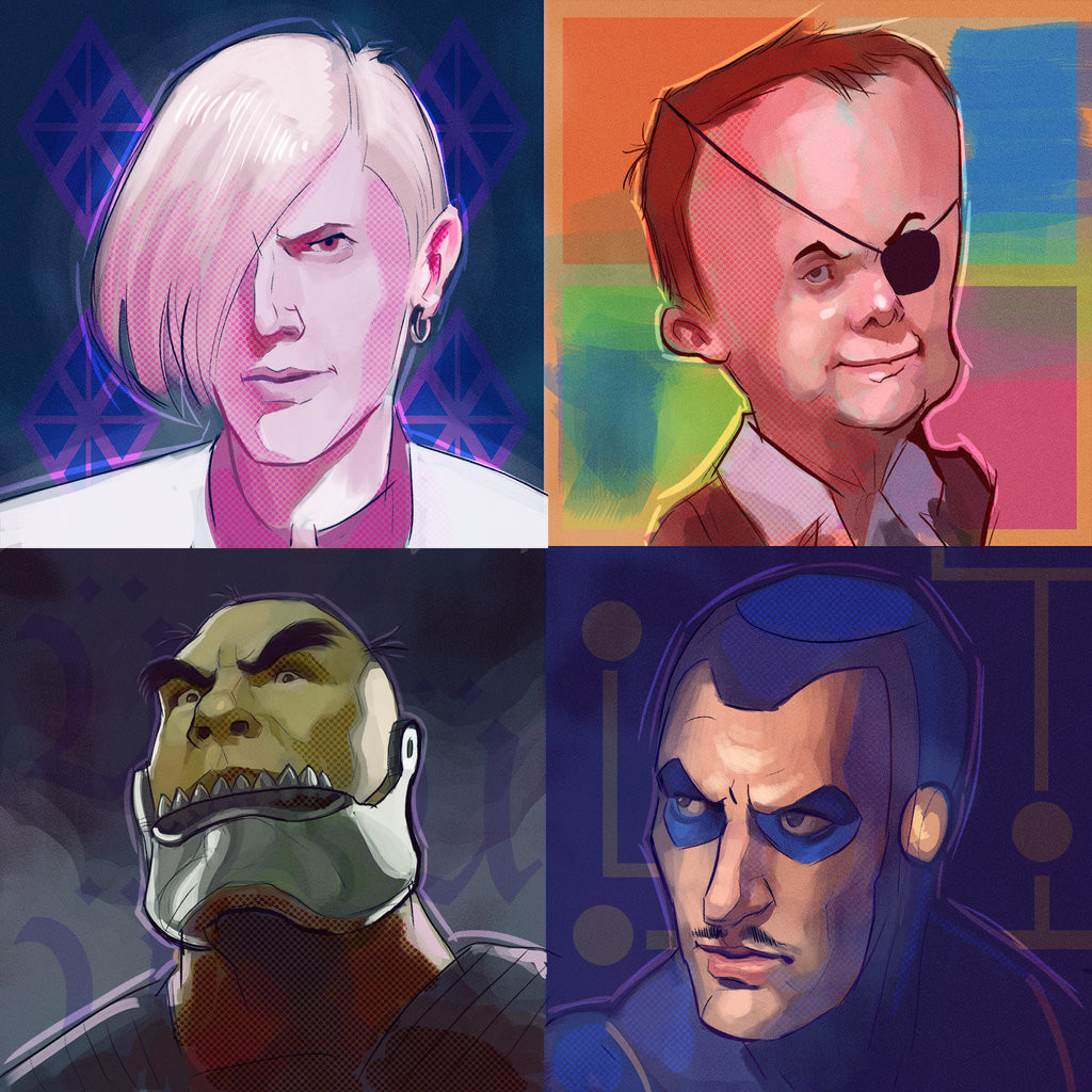 Artstation Venture Brothers Portraits Neal Anderson