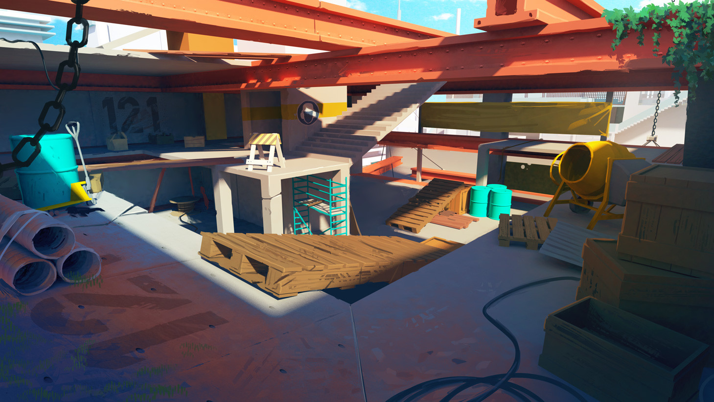 Streamline concept-art : high rise constructions