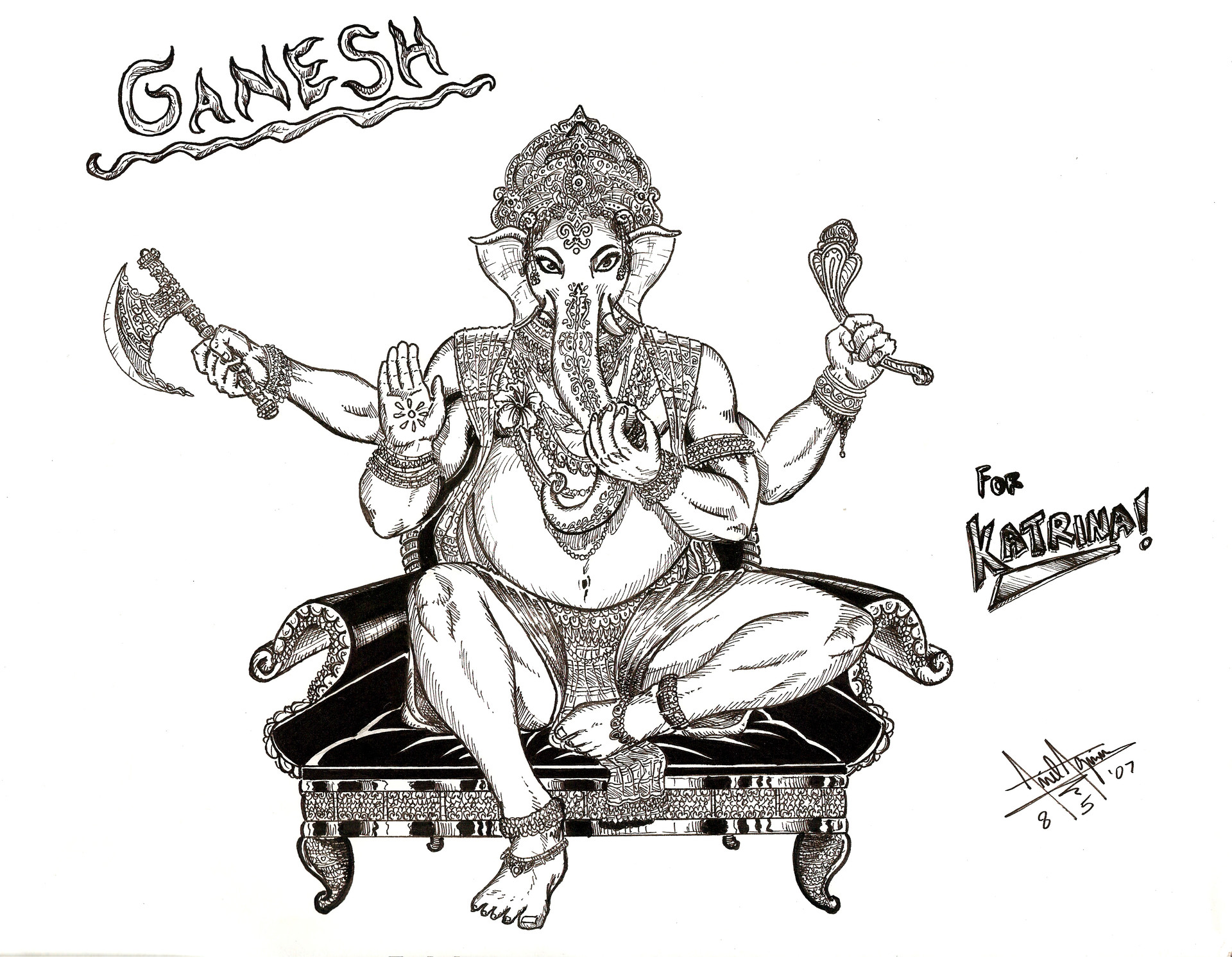 2007 ganesh pencils and inks