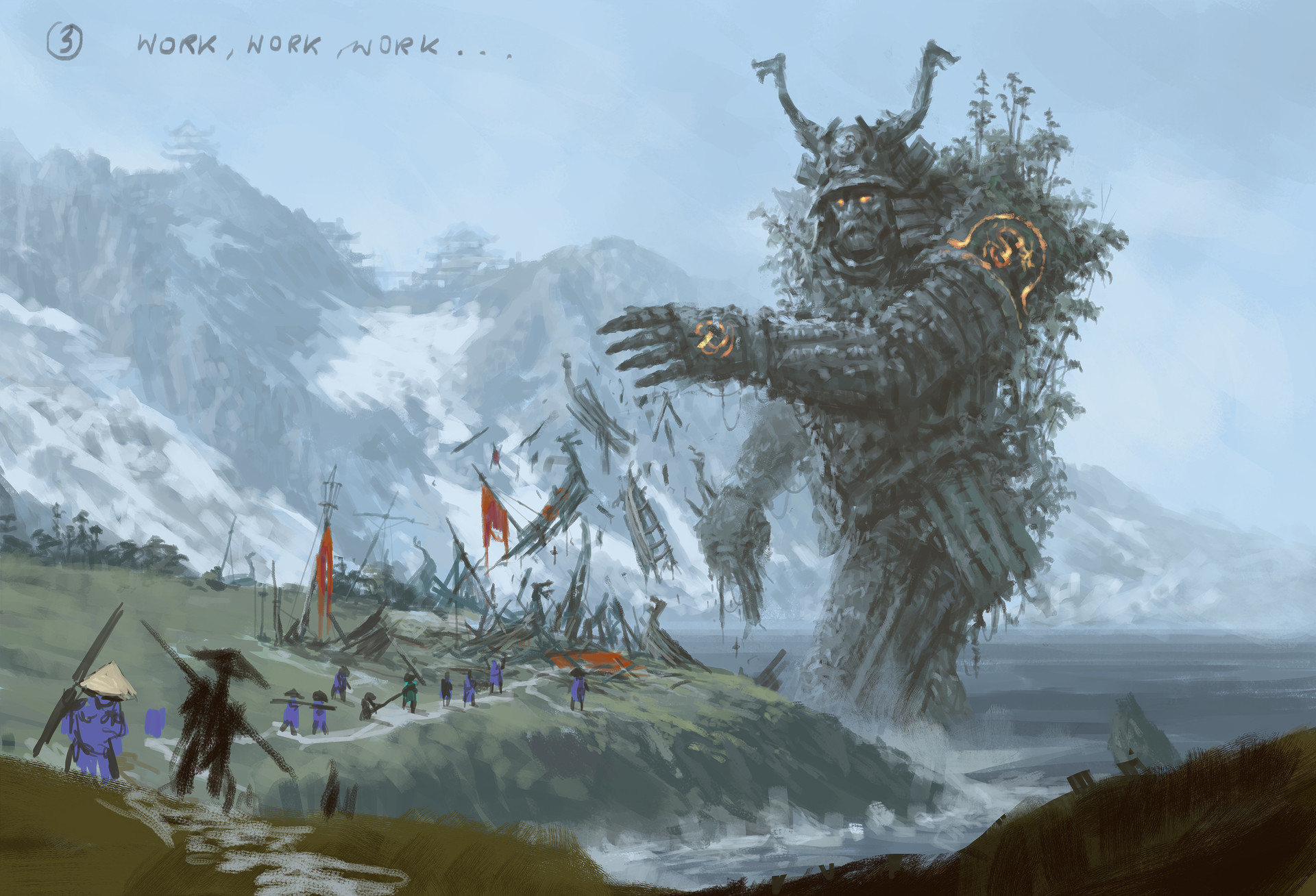 Jakub rozalski ancients conceptart 06process3