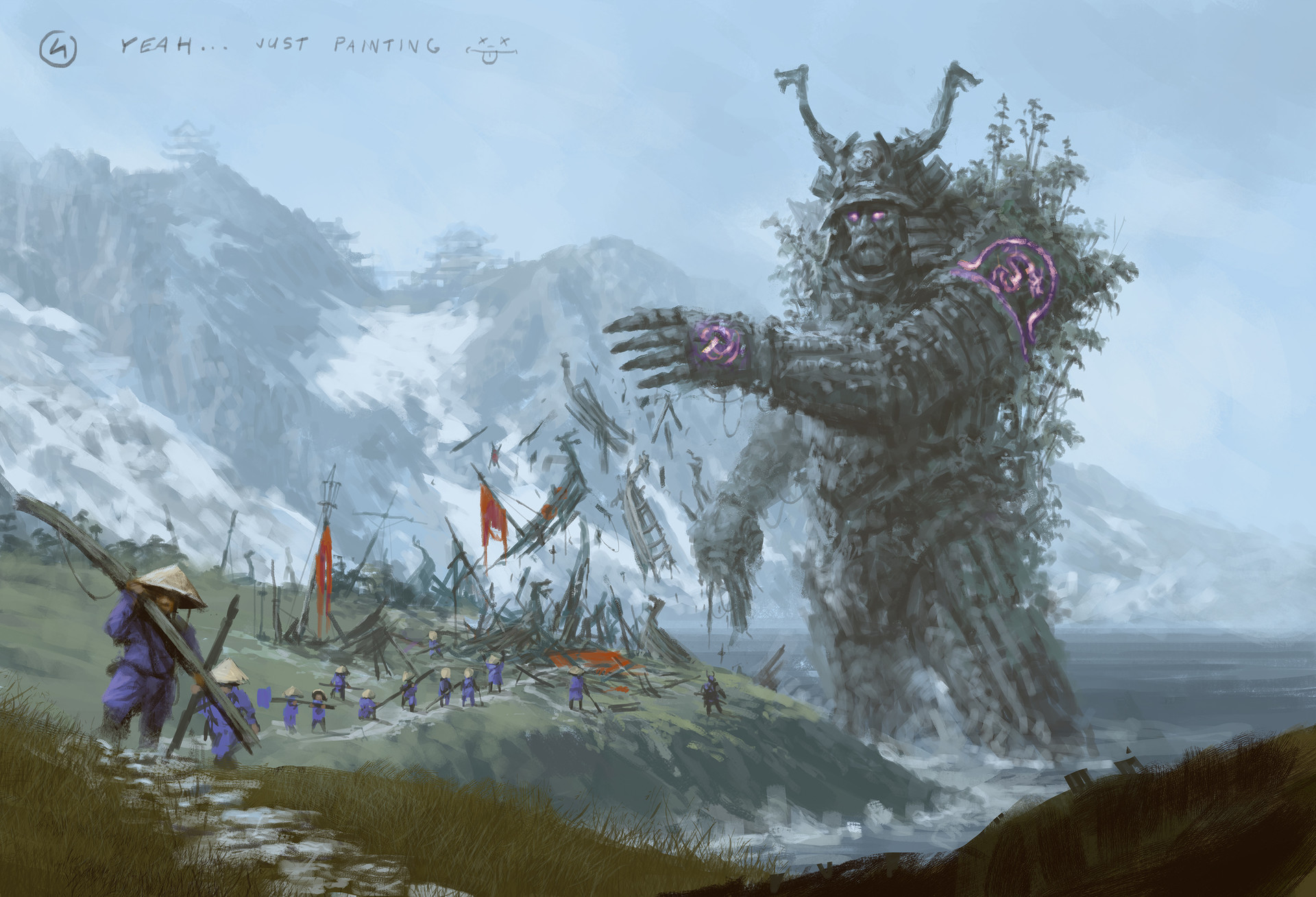 Jakub rozalski ancients conceptart 06process4