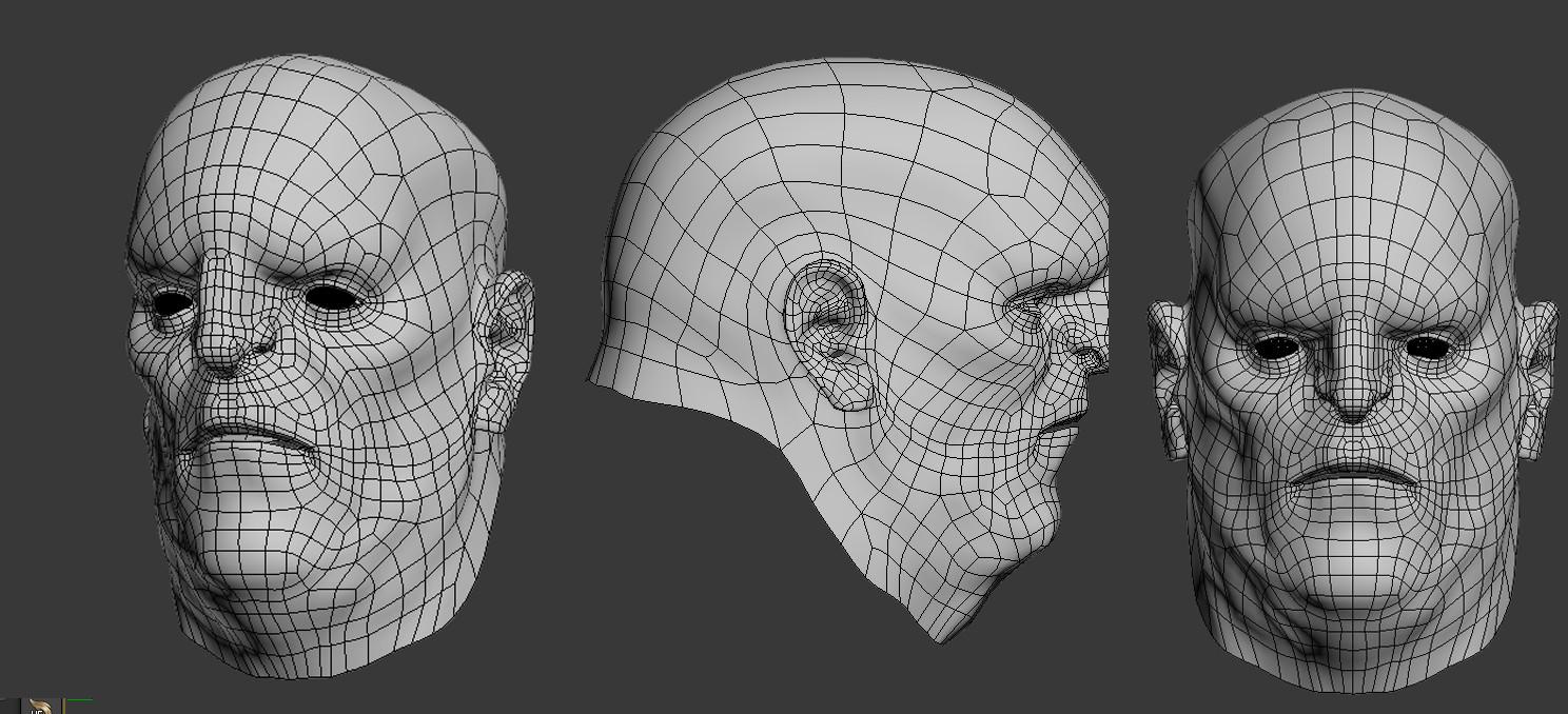 Fabricio rezende retopology face profile