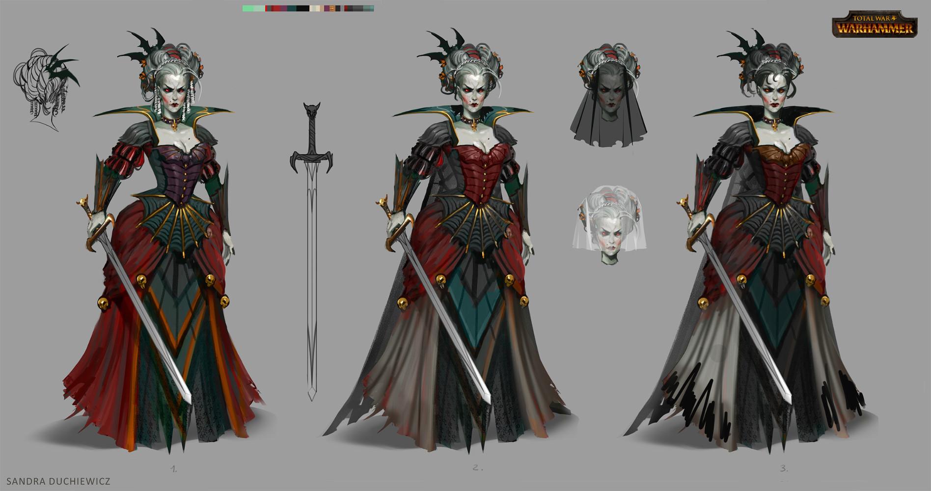Character Design History : Artstation total war warhammer concept art vampire