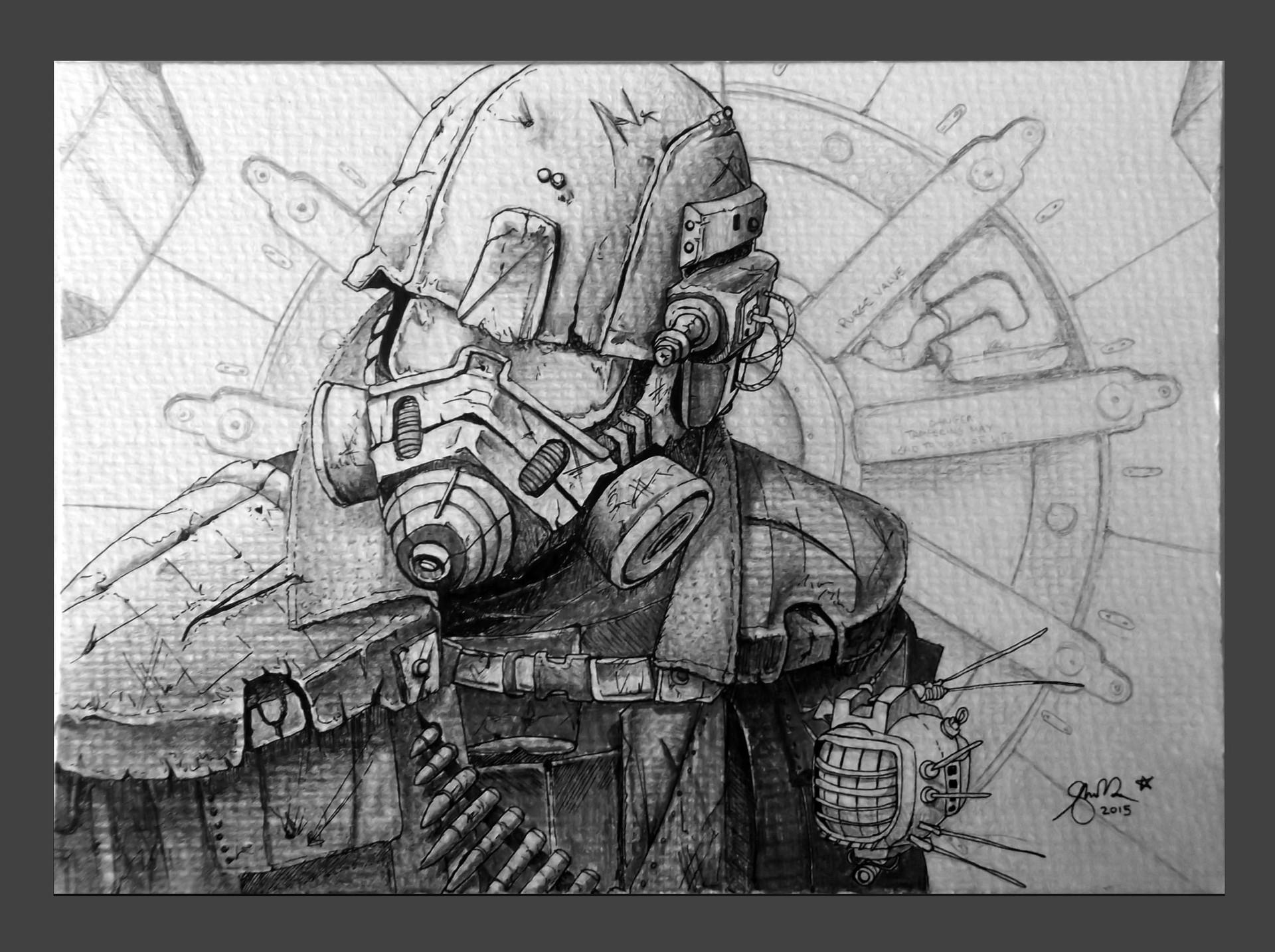 Shellz art fallout guy