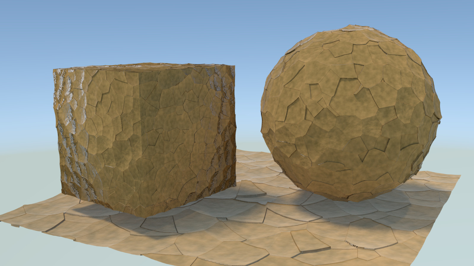 second render; more realistic displacement.