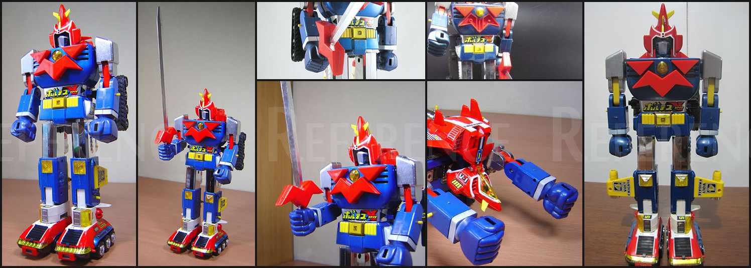 The actual toys, used as a reference.