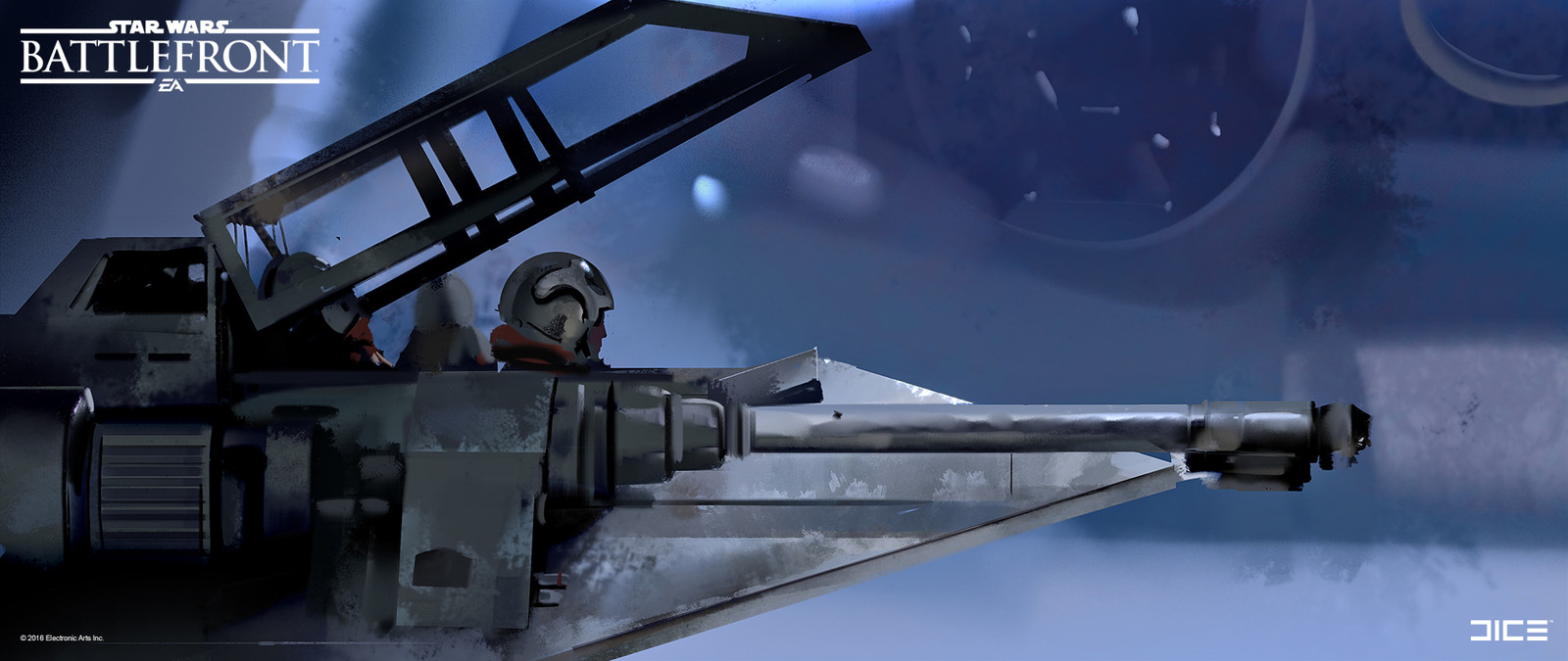 Style study from movie still for the 2015 Star Wars Battlefront game. (2013)