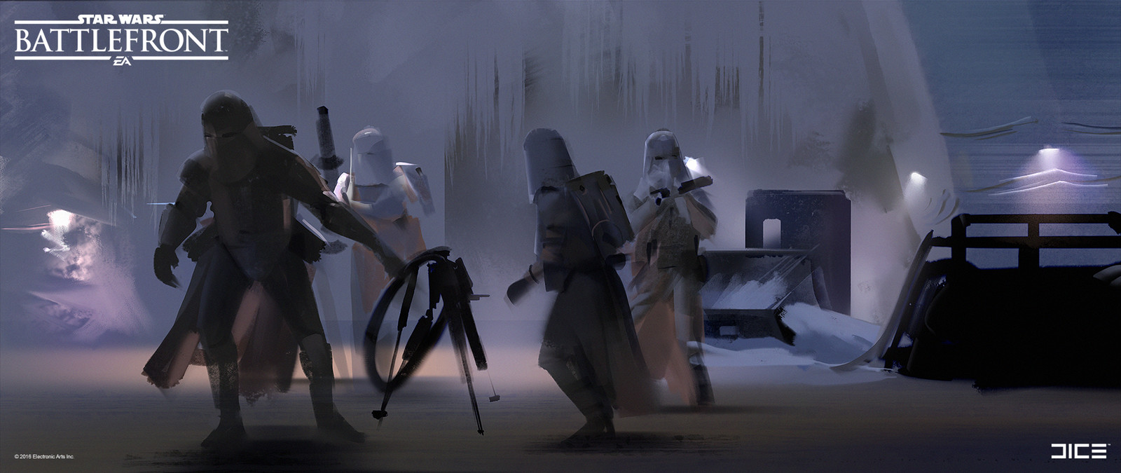 Style study from movie still for the 2015 Star Wars Battlefront game. (2014)