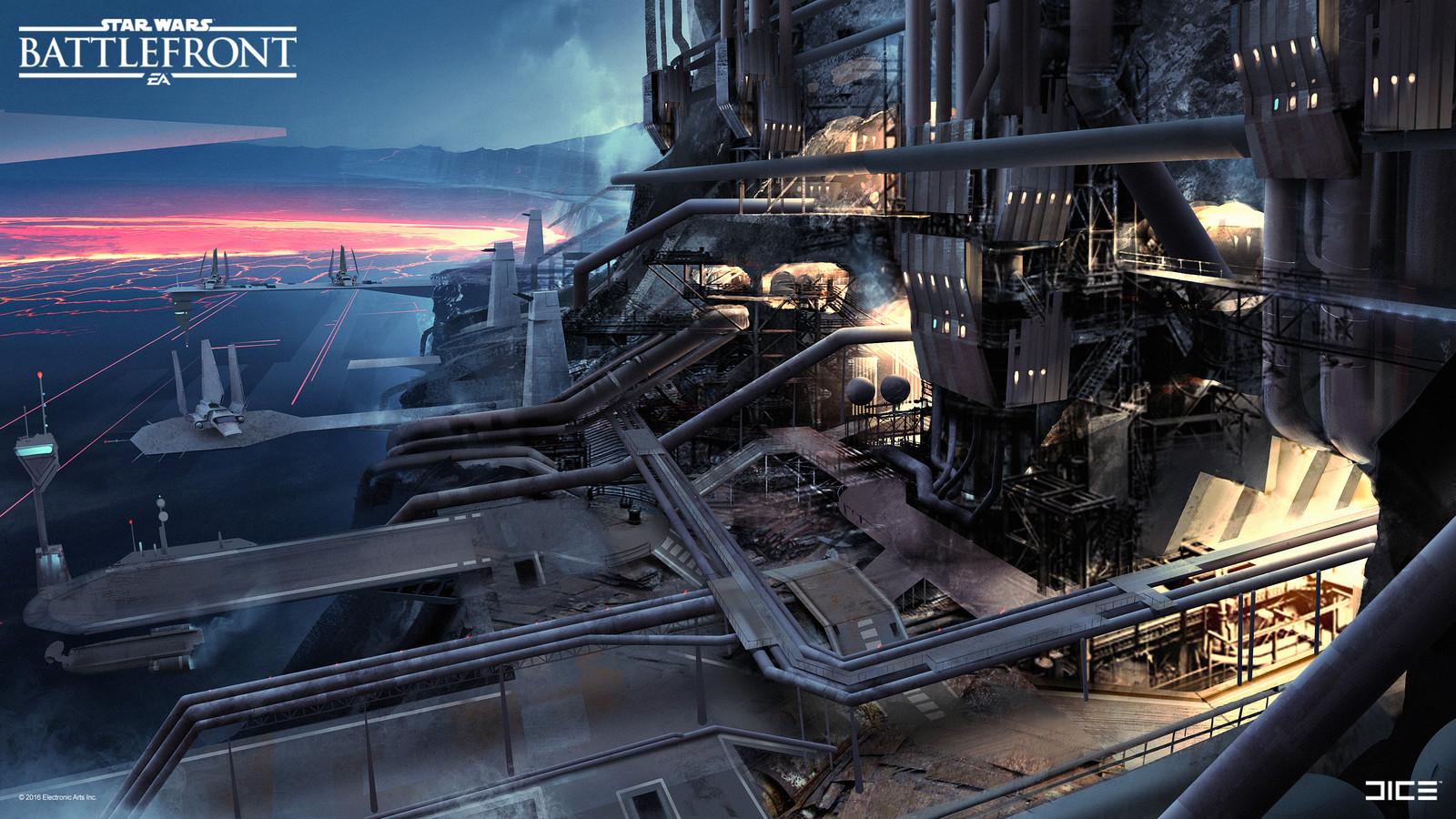 SoroSuub Factory Concept Art  for the Star Wars Battlefront Outer Rim DLC. (2015)