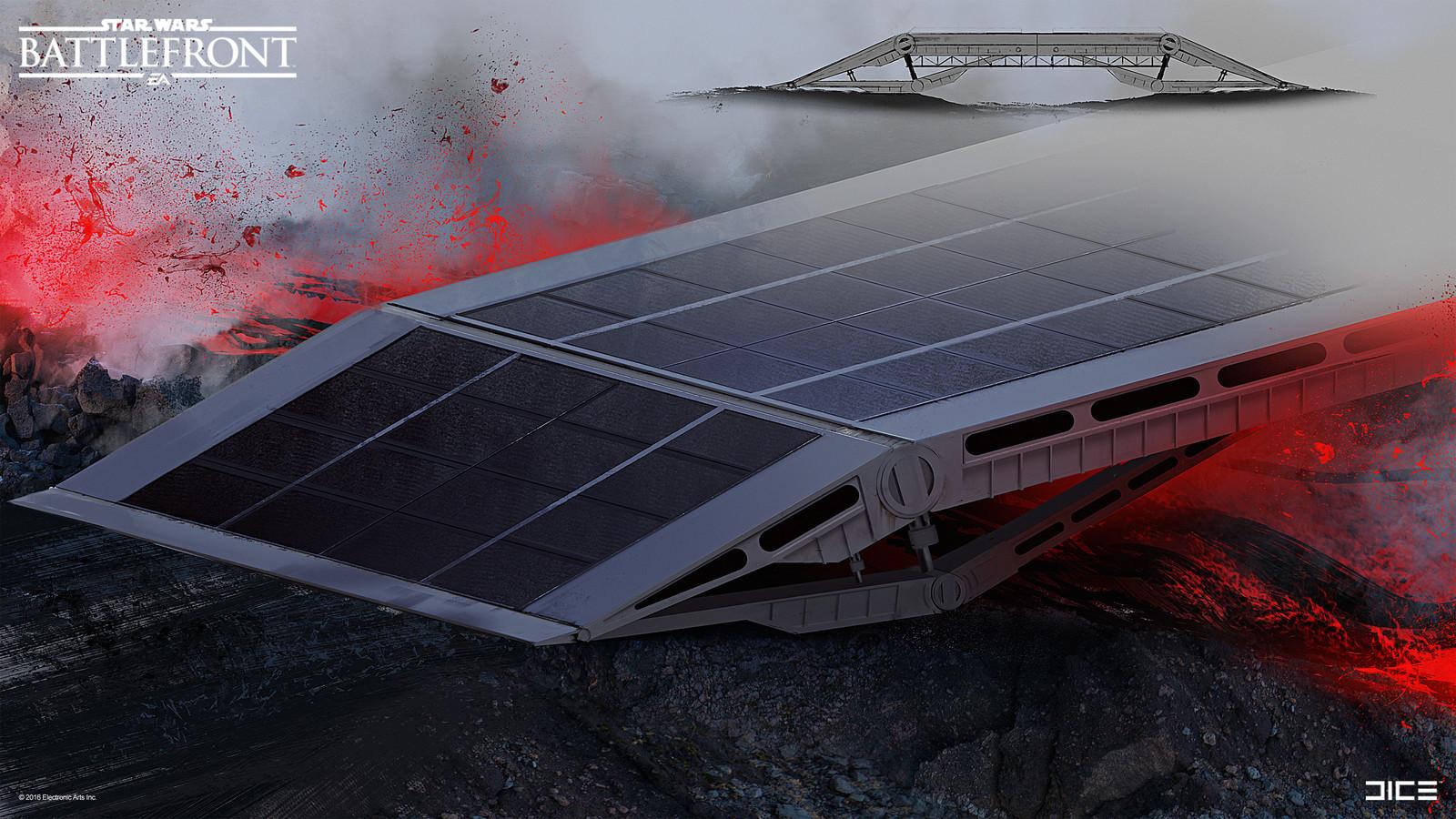 Imperial mobile bridge on Sullust Concept Art for the 2015 Star Wars Battlefront game. (2014)
