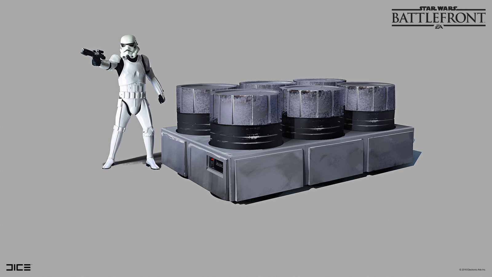 Imperial container on Sullust Concept Art  for the 2015 Star Wars Battlefront game. (2014)