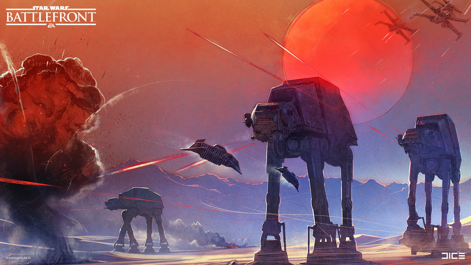 Inspirational poster for the Star Wars Battlefront team at DICE (detail). (2015)