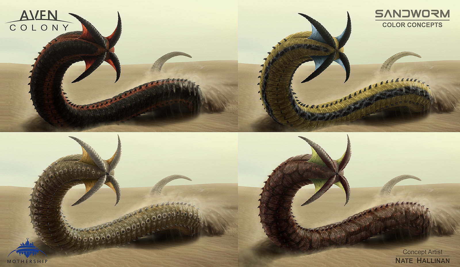 Nate hallinan ac alien sandworm colors