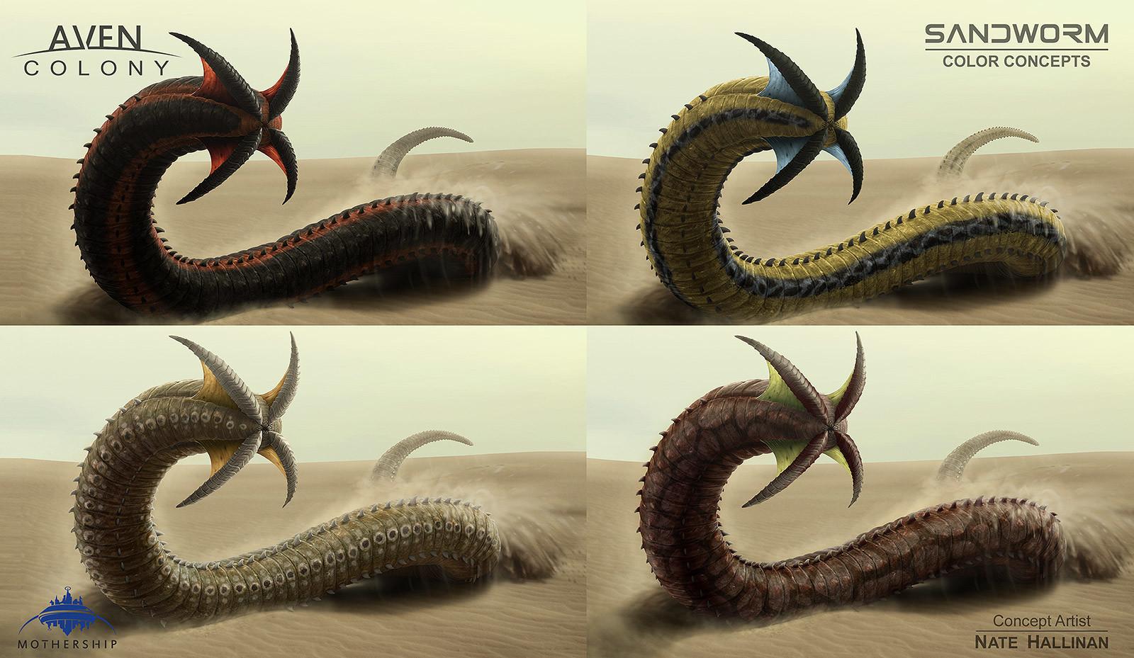 Nate hallinan ac alien sandworm colors