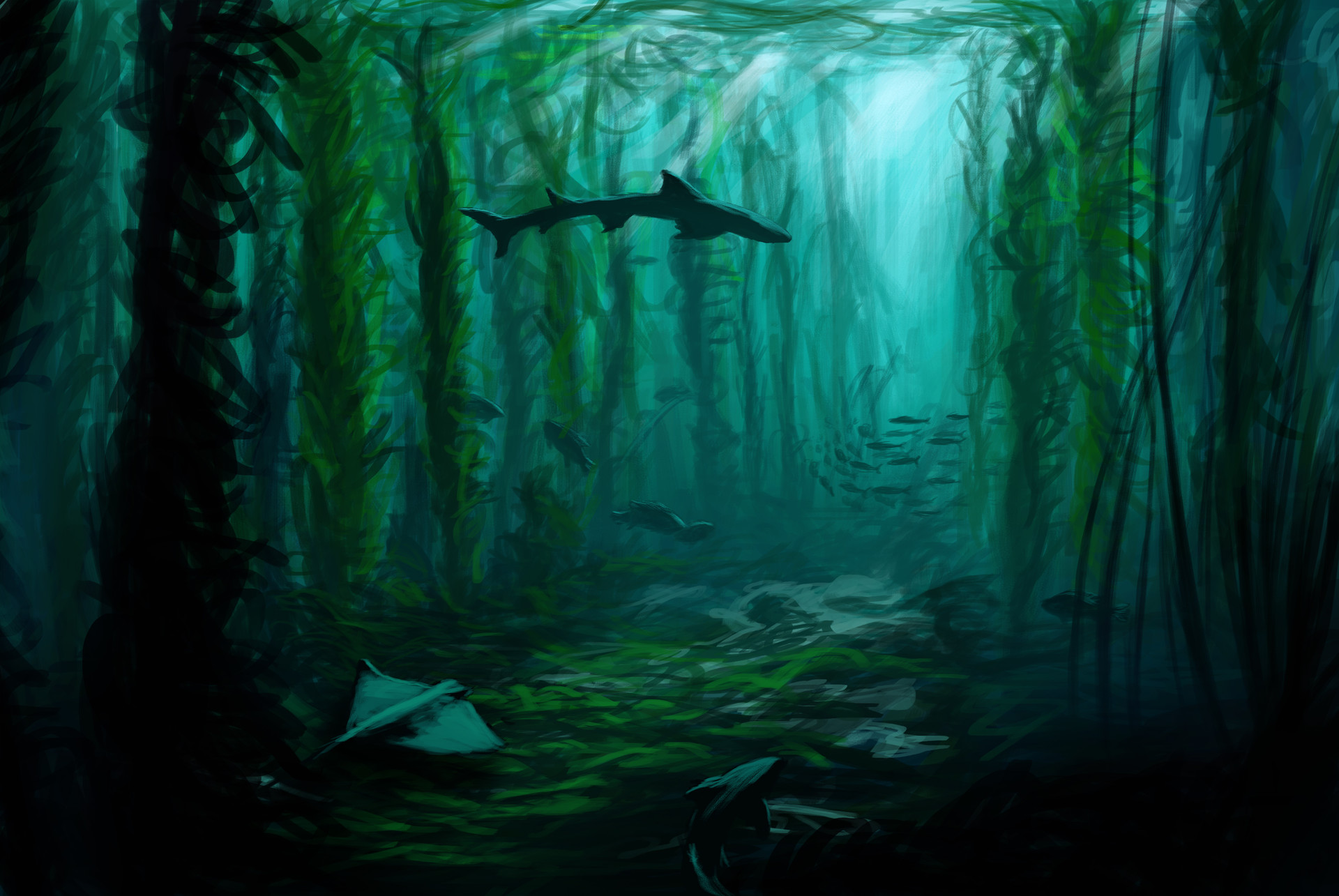 Artstation Kelp Forest Derek Tanis