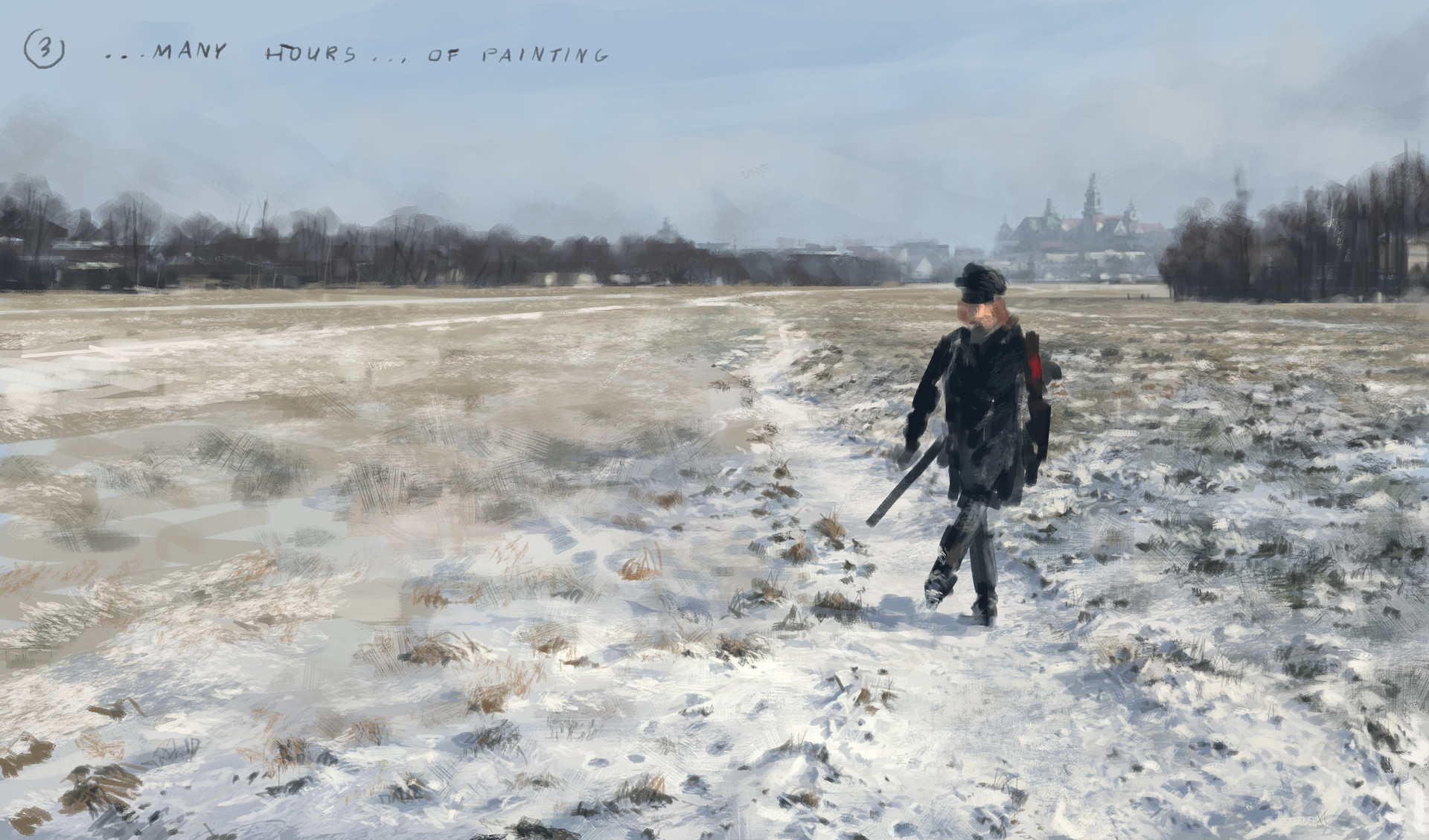 Jakub rozalski 1920 first snow blonie process03