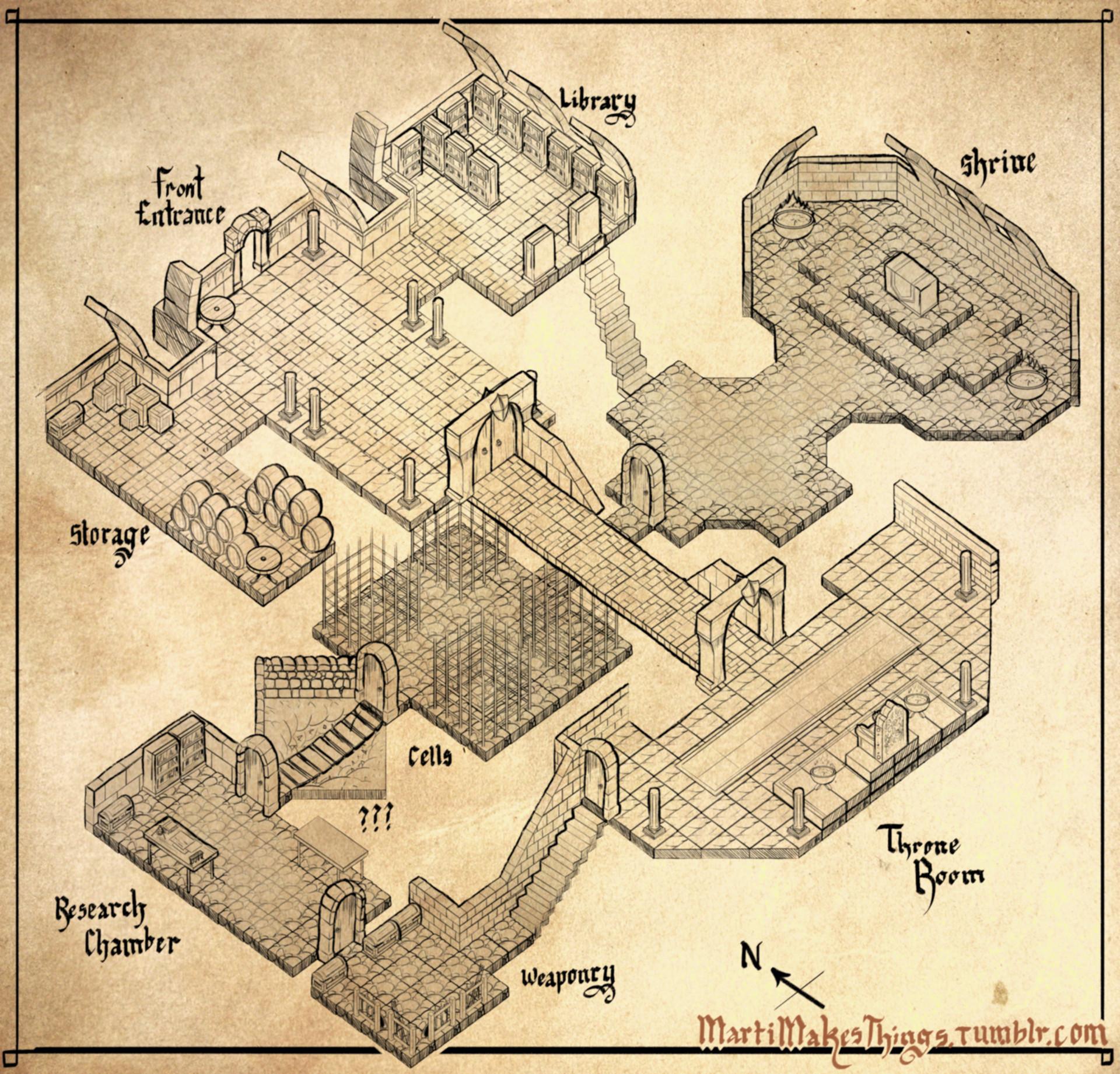 ArtStation - Isometric Dungeon Design, Martin Whitfield