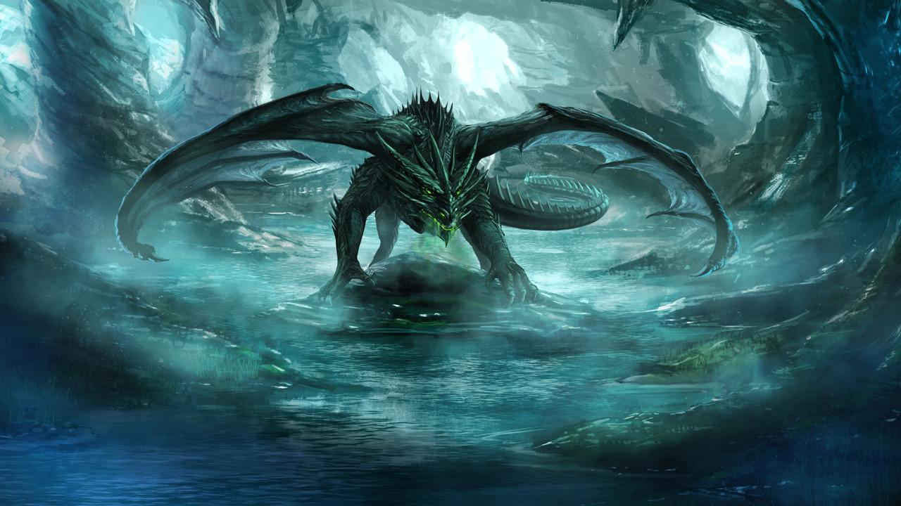 Robert crescenzio cave dragon by robertcrescenzio d9tht7p