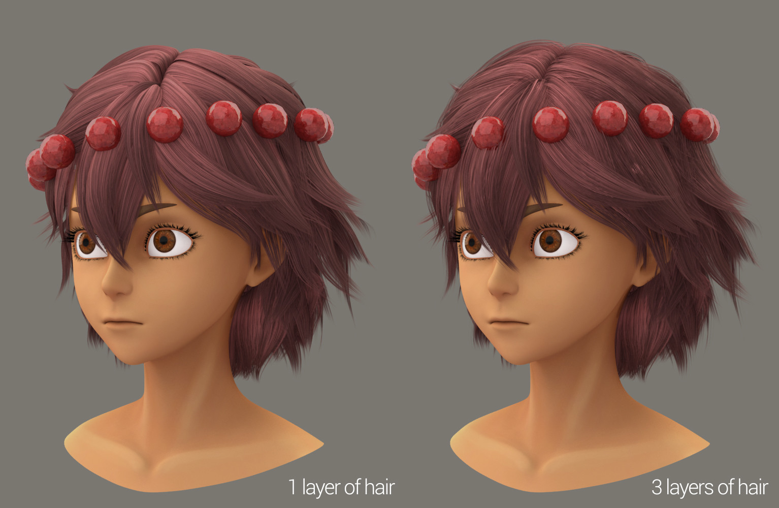 Test using extra layers of hair