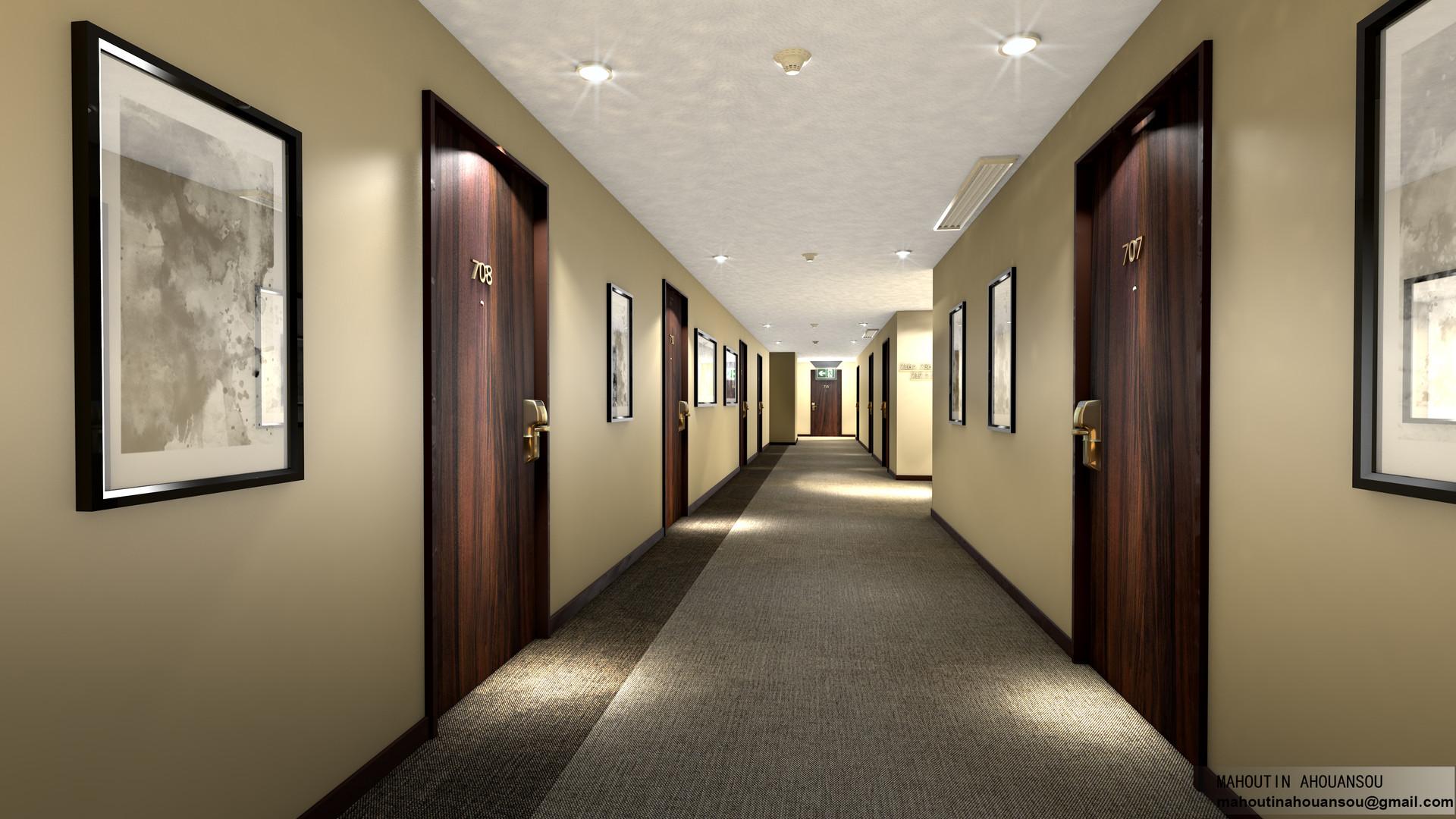 Modern Home Lighting Mahoutin Ahouansou Hotel Hallway