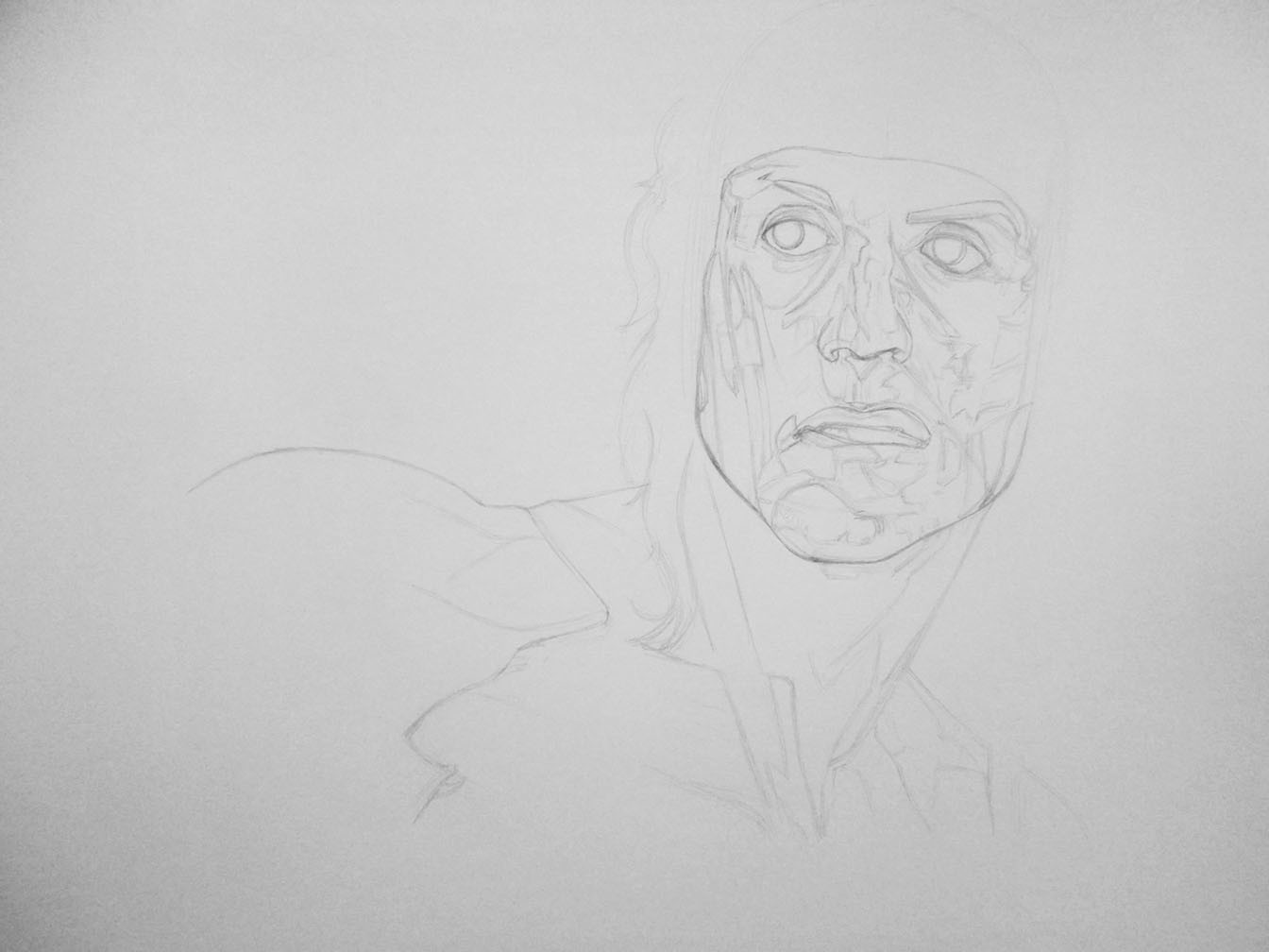 Starting the drawing.