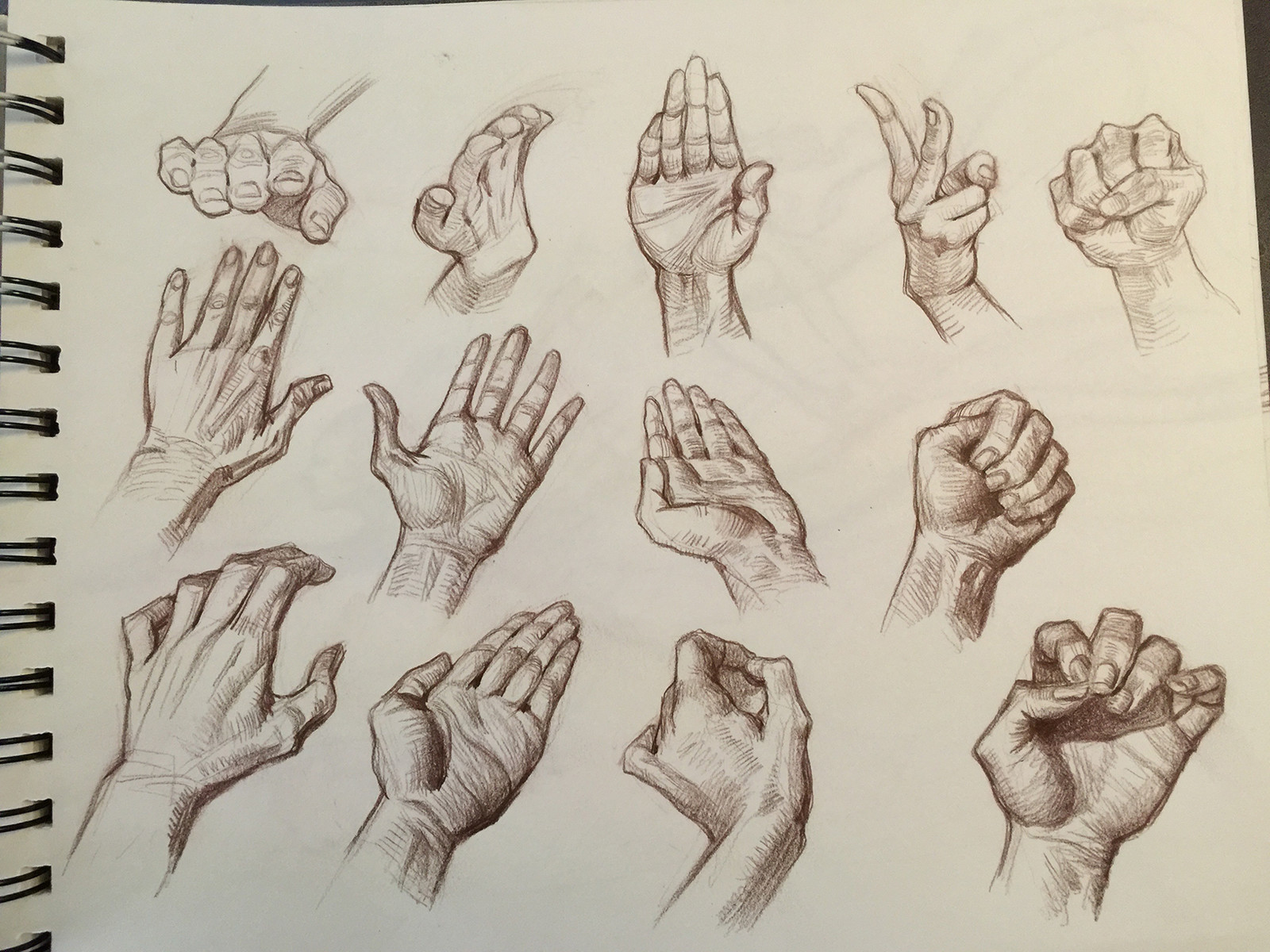 Can't practice drawing hands enough